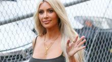 Kim Kardashian is back to blonde for anniversary