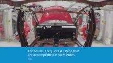Time-lapse of Tesla assembly line