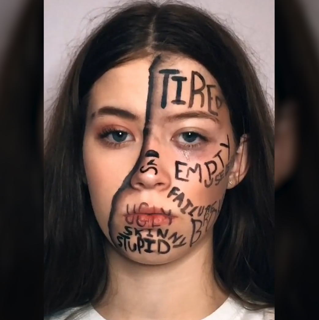 Teen creates makeup looks that convey what mental illness feels like: 'This hit home' [Video]