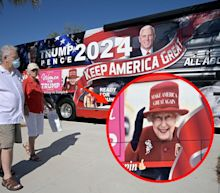 Buckingham Palace asked a Trump supporter to remove a doctored image of Queen Elizabeth from his campaign bus, a report says