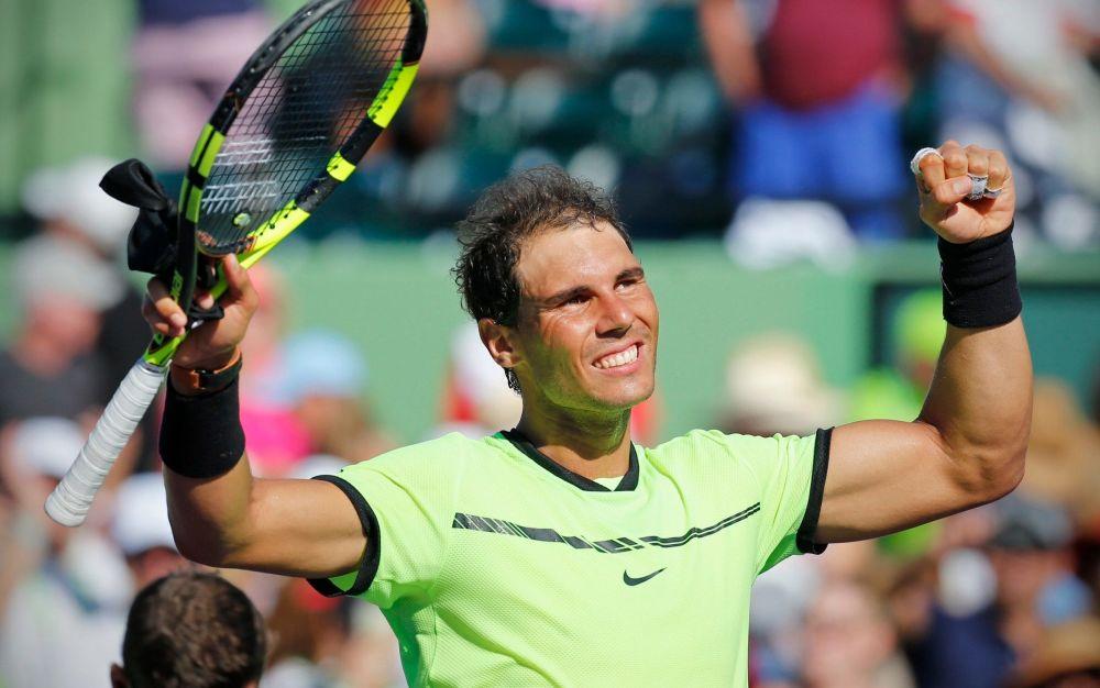 Rafael Nadalcelebrates after defeating Nicolas Mahut - Miami Herald
