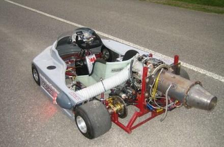 Jet engine-powered go-kart roars onto eBay