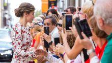 El vestido más primaveral de la reina Letizia