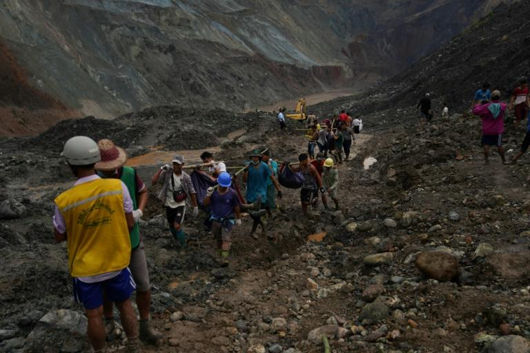The landslide victims were largely poor migrants who had travelled across the country to prospect in dangerous open-cast mines