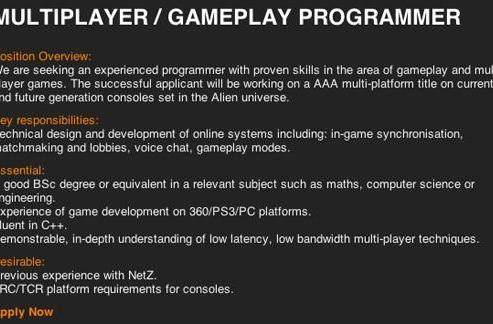 Creative Assembly's untitled Alien project aimed at next-gen too