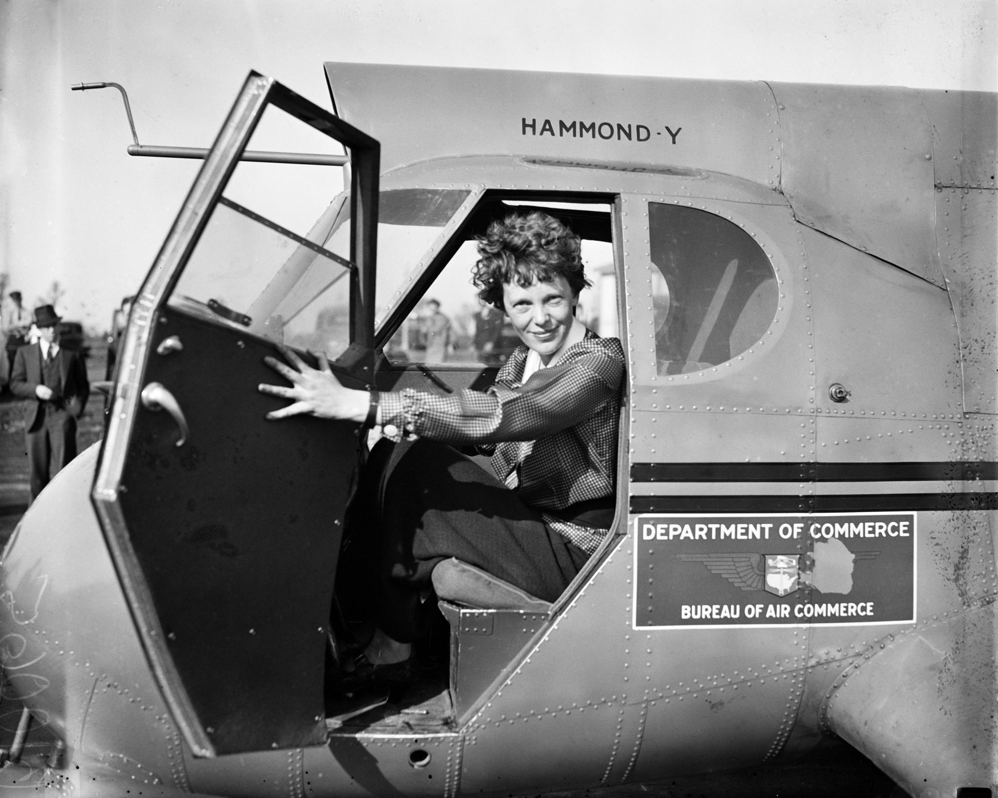 a biography of amelia earhart the first woman to cross the atlantic by plane Aviation legend amelia earhart is most famous for the first woman to fly across the atlantic in a found of amelia earhart, fred noonan, or their plane.