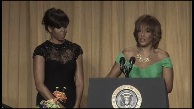 FLOTUS and Gayle King present WHCA scholarships