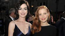 Jessica Chastain and Anne Hathaway Look Out of This World at the 'Interstellar' Premiere