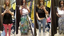 I tried 10 items in Zara and was 3 different sizes