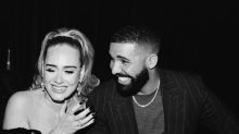 Adele stuns at Drake's birthday party in off-the-shoulder dress showcasing slimmer figure