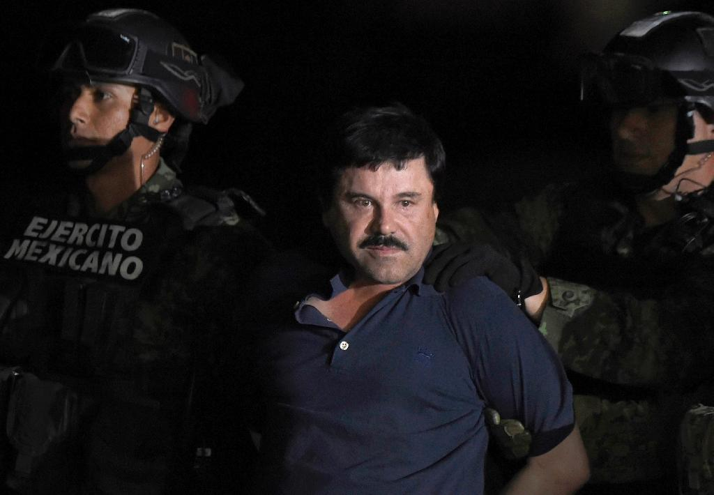 """In the early 1990s, at the height of his power as one of the most notorious criminals in the world and most prolific drug traffickers on the planet, Joaquin """"El Chapo"""" Guzman reputedly profited to the max from his ill-gotten gains (AFP Photo/ALFREDO ESTRELLA)"""