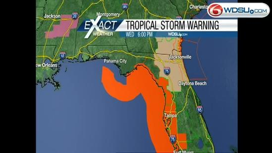Wednesday night forecast; Tropical storm Andrea forms in Gulf