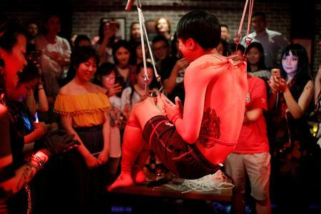 Hooked On Body Suspension Extreme Art Finds Niche In China