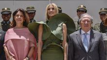 Ivanka Trump se convierte en un meme viral por culpa de su vestido (y del viento)