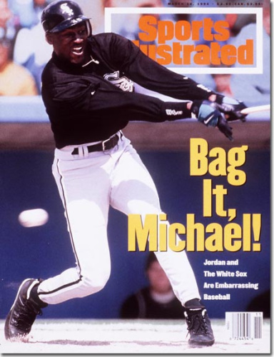 Michael Jordan on the cover of Sports Illustrated in March 1994. (Sports Illustrated)