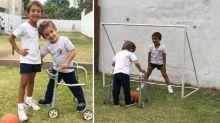 No existen barreras... este video de dos amigos jugando al fútbol dio la vuelta al mundo