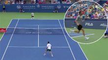 Frenchman stuns Djokovic with ridiculous shot