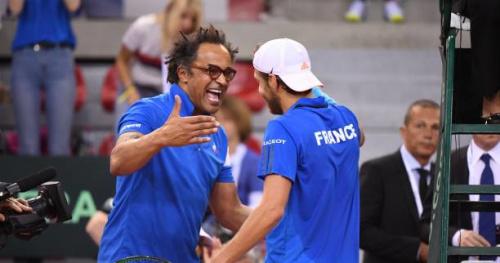Coupe Davis - Yannick Noah fait chanter les supporters français