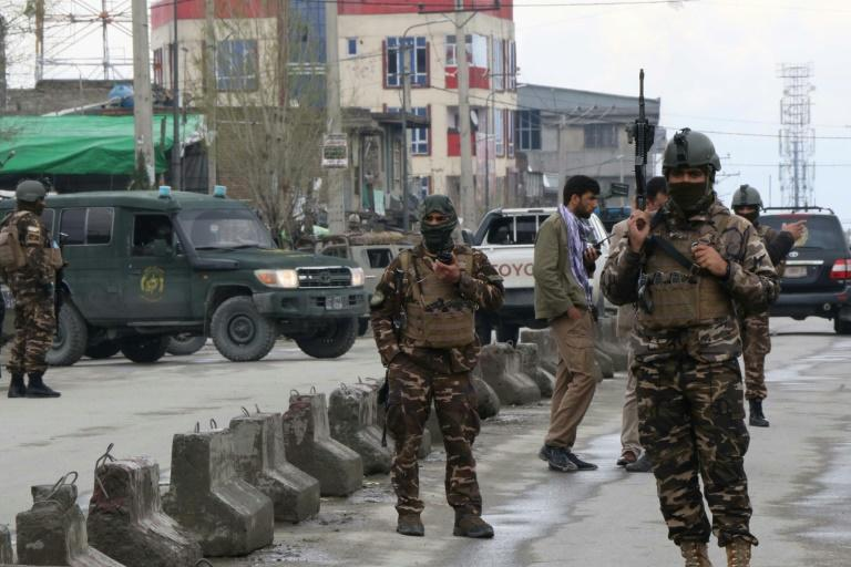 Afghan security personnel carried out an hours-long clearing operation, killing at least one attacker (AFP Photo/STR)