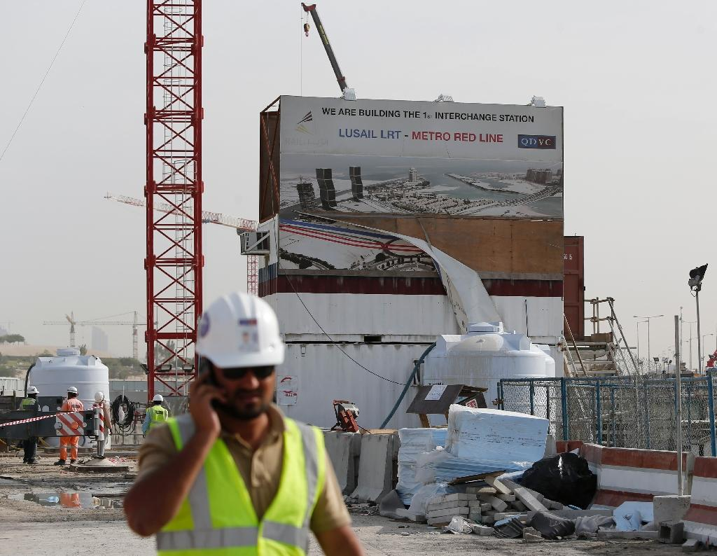 Construction site of a new metro line in Qatar's capital Doha (AFP Photo/Karim Jaafar)