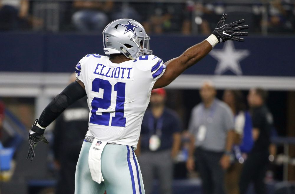 Ezekiel Elliott will likely play the rest of the season without missing any games due to suspension. (AP)