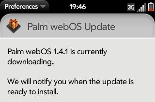 Reports of webOS 1.4.1 update now coming in, Update: 1.4.1.1 available for Sprint