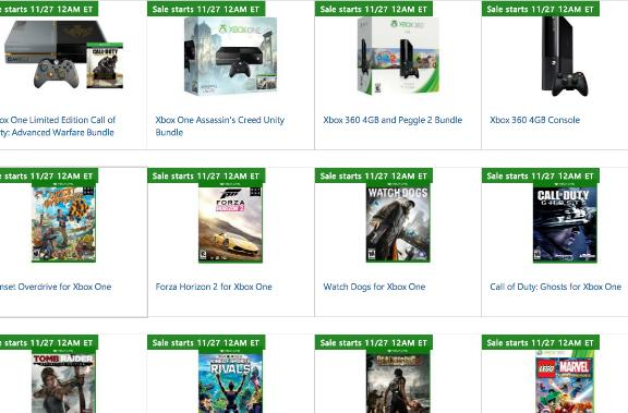 Xbox discounts prepped for Microsoft Store's Black Friday