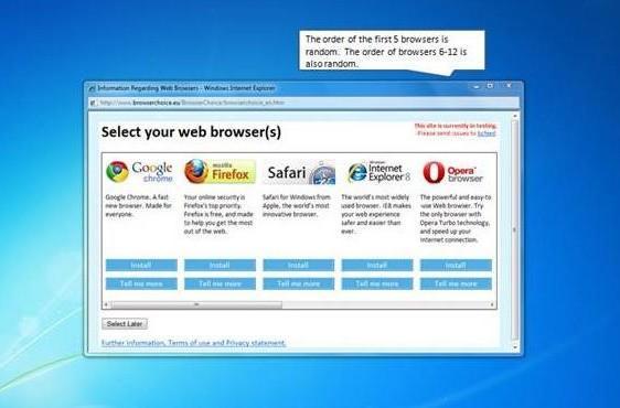 Windows 7's European browser ballot screen revealed, rolling out next week