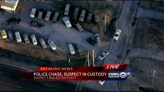 Man in custody after police pursuit