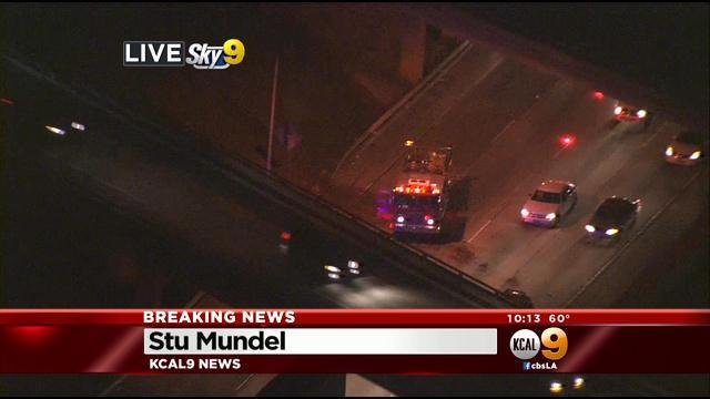 Car Flies Off 405 Freeway, Lands On 110 In Carson
