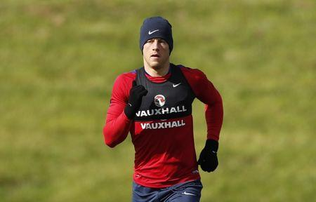 England's Ross Barkley during training