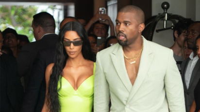 Kanye West trolled for wearing ill-fitting Yeezy slides to friend's wedding