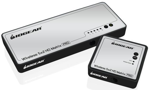 IOGEAR's latest matrix switcher can stream different video sources to up to four receivers