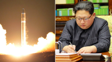 North Korea releases video of missile test launch and Kim Jong-un laughing