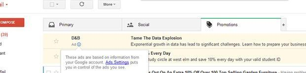 New Gmail layout spawns targeted ads that look like emails