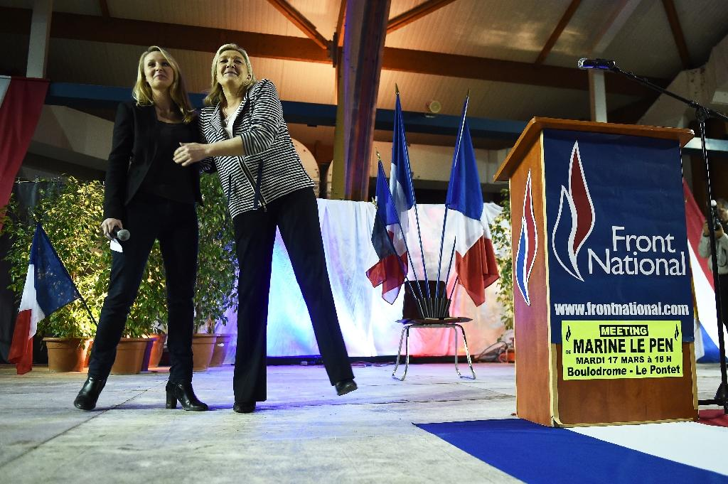 marine le pen and niece lead france 39 s fn into dominant territory. Black Bedroom Furniture Sets. Home Design Ideas