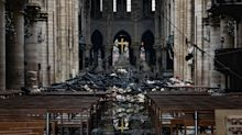 Yahoo News exclusive video shows extensive fire damage inside Notre Dame Cathedral