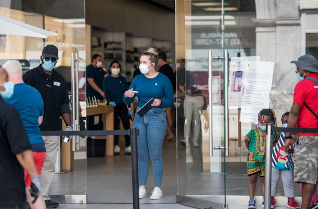 Apple is reopening more stores but you'll need a face mask to enter