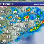 Barry brings scattered thunderstorms this afternoon