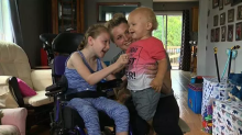 9-year-old girl with cerebral palsy is being called a hero after saving her baby brother from drowning in pool