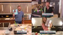 """Tous en cuisine en direct avec Cyril Lignac: """"laisse-moi mes petits plaisirs!"""" Jérôme Anthony balaie le conseil healthy de Laury Thilleman"""