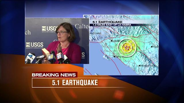 Raw: Caltech Seismologist Dr. Lucy Jones Discusses 5.1 Quake