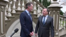 'All French Canadians' are Catholic, Quebec premier tells governor of California