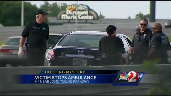 Shooting victim flags down ambulance on I-4 in Orlando