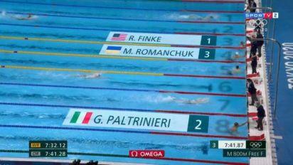 Robert Finke é ouro na estreia dos 800m livre nos Jogos Olímpicos; Guilherme Costa fica em oitavo