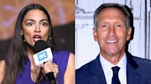 Alexandria Ocasio-Cortez fires back at Howard Schultz for slamming her tax plan
