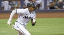 Miami Marlins Lewis Brinson steps in for injured outfielder Starling Marte