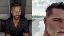 Ricky Martin, casi irreconocible en su último selfie