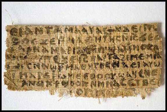 Written in Coptic (an Egyptian language), the Gospel of Jesus's Wife, if authentic, suggests that some people in ancient times believed Jesus was married, apparently to Mary Magdalene.