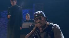 "Travis Scott and James Blake ""f*ck the club up"" at 2019 Grammys: Watch"
